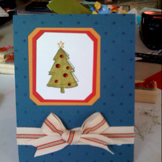 Christmas cards out of left overs...
